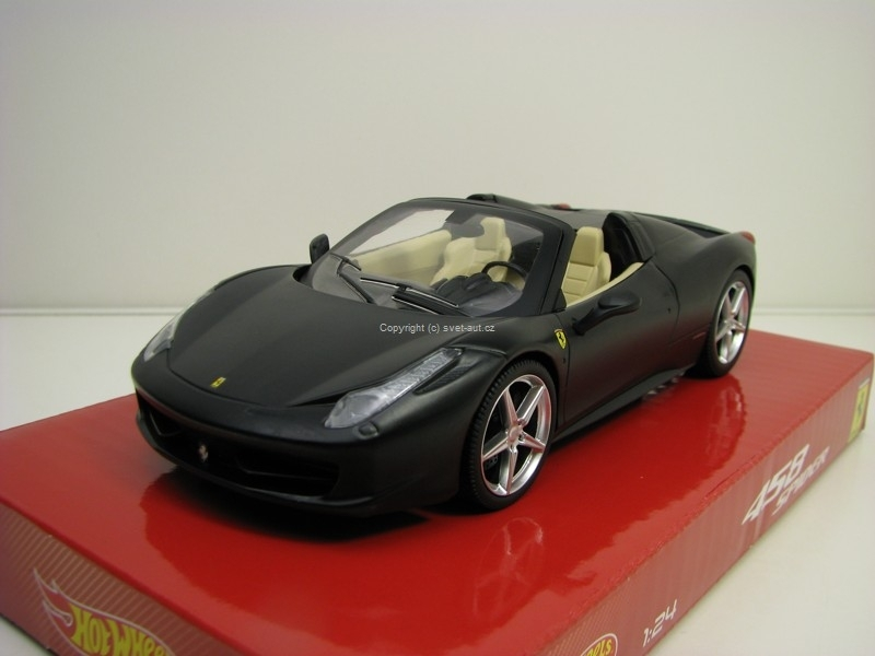 Ferrari 458 Spider matt Black 1:24 Hotwheels